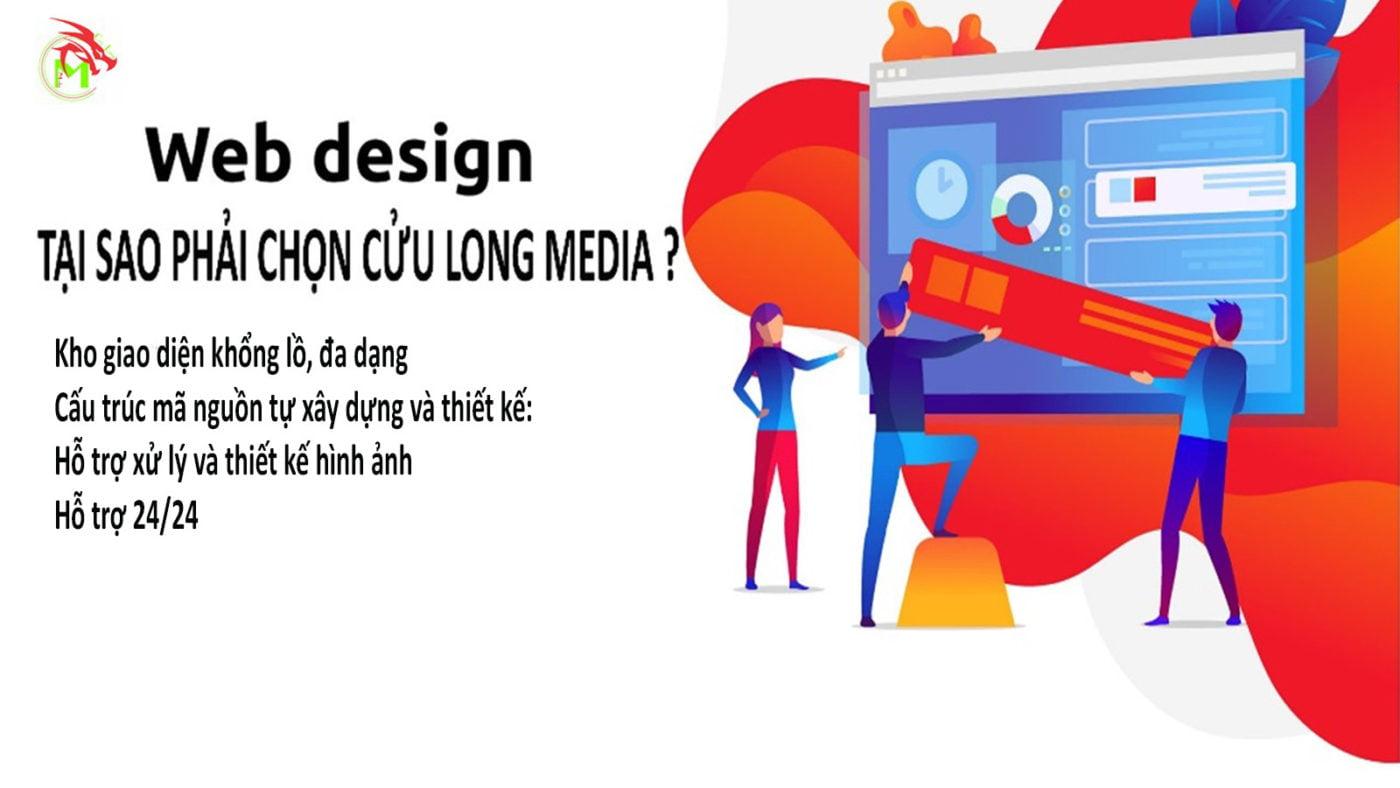 Tại sao phải chọn Cửu long media để thiết kế website